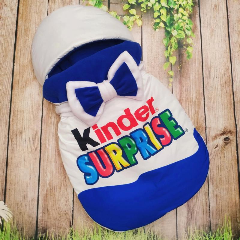 Конверт спальник для виписки ШкодаМода Kinder Surprise Blue