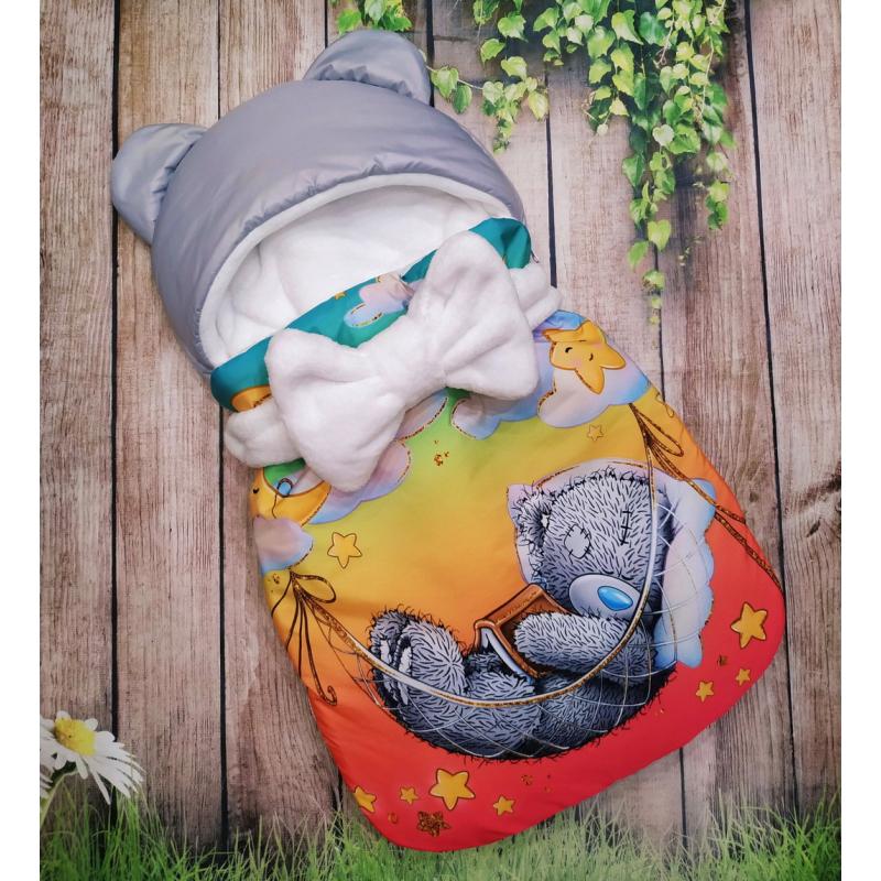Конверт спальник для виписки ШкодаМода Sleeping teddy orange