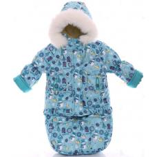 Зимний комбинезон 3 в 1 Babykroha Тройка Мятный снеговик
