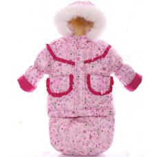 Зимний комбинезон 3 в 1 Babykroha Тройка Розовая принцесса