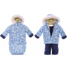 Зимний комбинезон 3 в 1 Babykroha Тройка Голубой baby