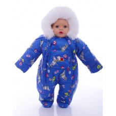 Детский зимний комбинезон Babykroha Человечек (цветной) Синий