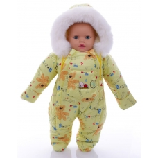 Детский зимний комбинезон Babykroha Человечек (цветной) Желты