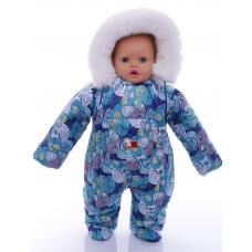 Детский зимний комбинезон Babykroha Человечек (цветной) Синяя