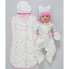 Подарочный набор из 4-х предметов Lari Baby Кремово-розовый