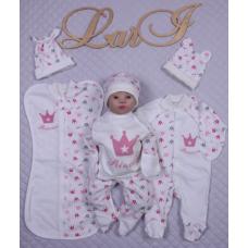 Подарочный набор из 7-ми предметов Lari Принцесса Кремовый