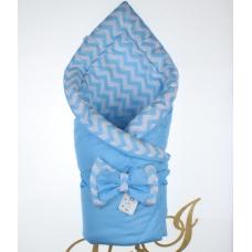 Двухсторонний конверт-одеяло Lari Волна Голубой