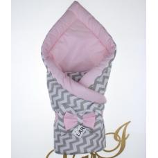 Двухсторонний конверт-одеяло Lari Волна Розовый
