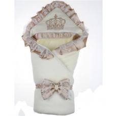 Весенний конверт-одеяло Lari Очарование Кремовый с капучино