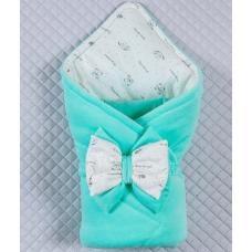 Весенний конверт-одеяло Lari Маленькие стиляжки Ментоловый