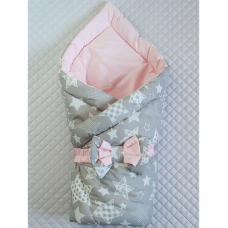 Весенний двухсторонний конверт-одеяло Lari Звездочка Розовый