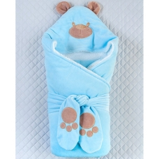 Конверт-одеяло Lari Панда Голубой