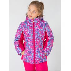 Зимняя куртка для девочки Модный Карапуз Art pink (03-00669-0