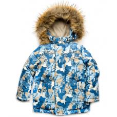 Зимняя куртка для мальчика Модный Карапуз Буквы (03-00735-0)