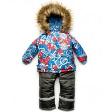 Зимний детский костюм-комбинезон из мембранной ткани Модный К