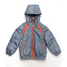 Демисезонная куртка для мальчика Модный карапуз Море Серый (0