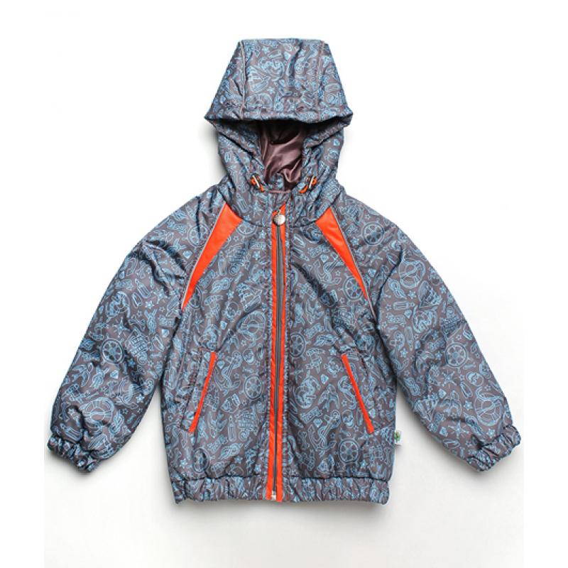 Демисезонная куртка для мальчика Модный карапуз Море Серый (03-00776-1)