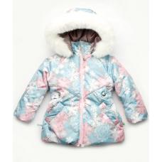 Зимняя куртка для девочки Модный Карапуз Снежинка (03-00829-0