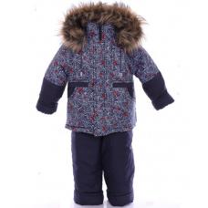 Детский зимний костюм-комбинезон Babykroha Классика Синий с п