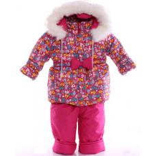 Детский зимний комбинезон Babykroha Евро Малиновый зоопарк