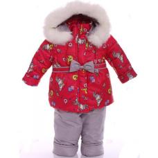 Детский зимний комбинезон Babykroha Евро Красный с зайкой