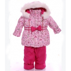Детский зимний комбинезон Babykroha Евро Принцесса с малиновы