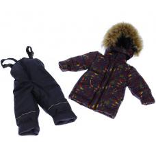 Зимний костюм-комбинезон Babykroha Стиль Синий Машинки