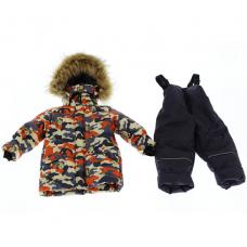 Зимний костюм-комбинезон Babykroha Стиль Серый с Мишкой