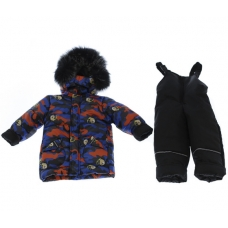 Зимний костюм-комбинезон Babykroha Стиль Синий с Мишкой