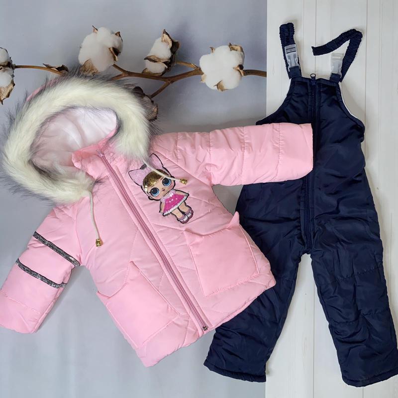 Зимний комбинезон для девочек Киндер Lol Розовый с синим