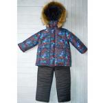 Детский зимний костюм-комбинезон Киндер Sport Автогонки Красный