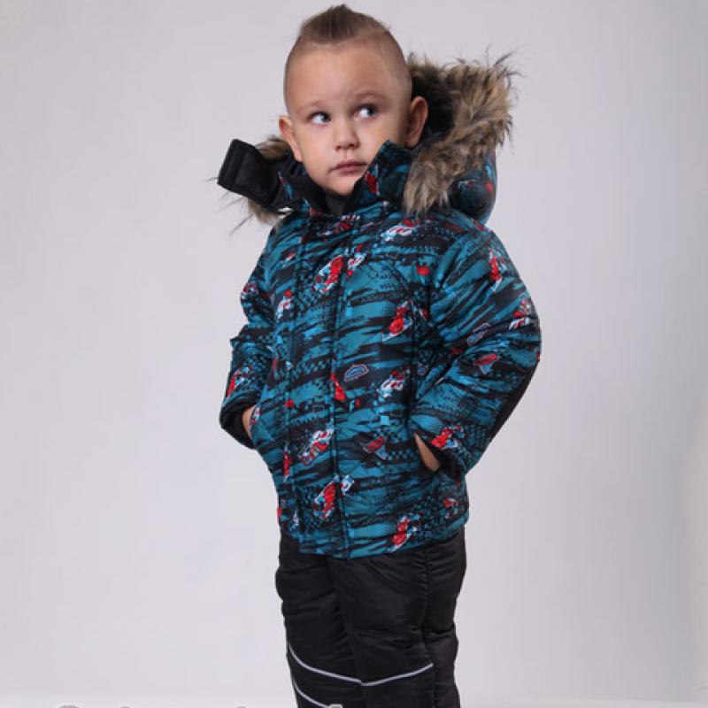 Детский зимний костюм-комбинезон Киндер Sport Бирюзовый