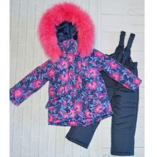 Детский зимний костюм-комбинезон для девочки Киндер Star Flor