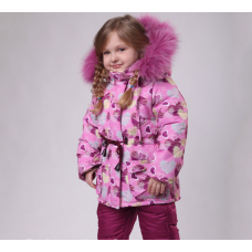 Детский зимний костюм-комбинезон для девочки Киндер Star Hear