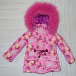 Детский зимний костюм-комбинезон для девочки Киндер Star Heart
