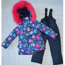 Детский зимний костюм-комбинезон для девочки Киндер Star Flow
