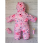 Детский зимний комбинезон-трансформер Киндер Крошка Светло-розовый