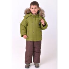 Зимний детский костюм-комбинезон M-Moda Alex Green