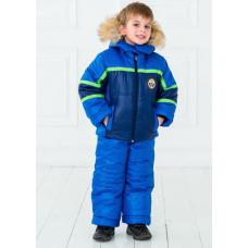 Зимний детский костюм-комбинезон M-Moda Люкс Голубой