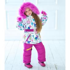 Зимний детский костюм-комбинезон M-Moda Оля Малиновый