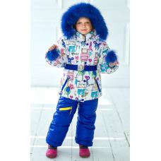 Зимний детский костюм-комбинезон M-Moda Оля Синий