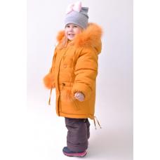 Зимний детский костюм-комбинезон M-Moda Соня Оранжевый