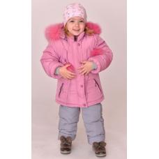 Зимний детский костюм-комбинезон M-Moda Соня Розовый