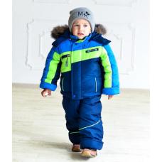 Зимний детский костюм-комбинезон M-Moda Sport Blue