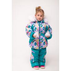 Зимний детский костюм-комбинезон M-Moda Диана Бирюза