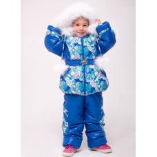 Зимний детский костюм-комбинезон M-Moda Диана Электрик