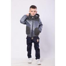 Куртка для мальчика демисезонная Модный Карапуз Серый (03-007