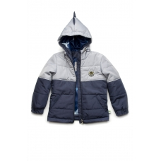 Демисезонная куртка  для мальчика Дино Модный Карапуз Серый (