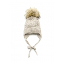 Зимняя шапочка Елка для девочки Модный карапуз Бежевый (03-01