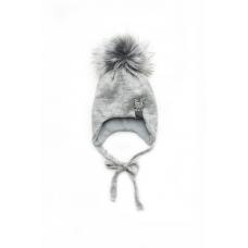 Зимняя шапка для девочки Модный карапуз Волк (03-01046-0)